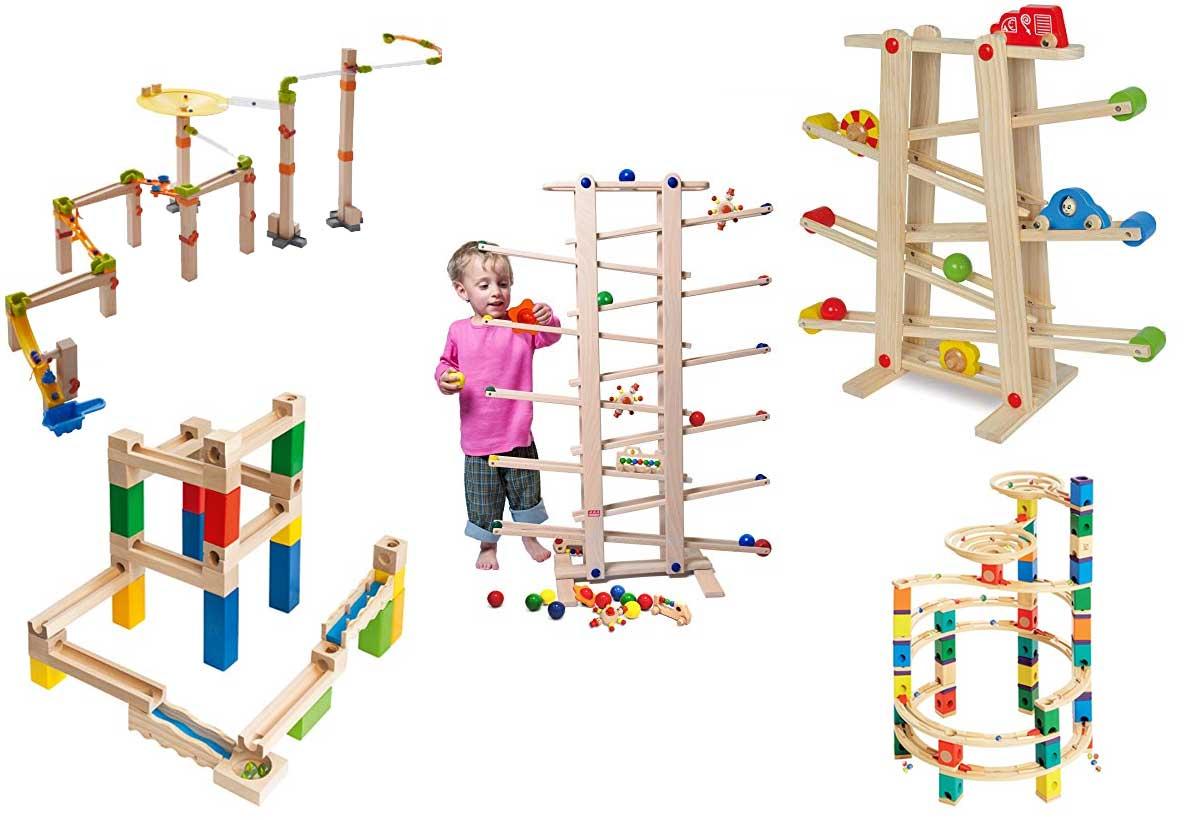 Holz-Kugelbahnen