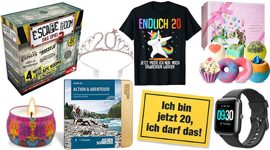 Geschenke zum 20. Geburtstag